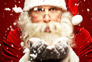 It's Santa Claus at Hill Creek Farms!